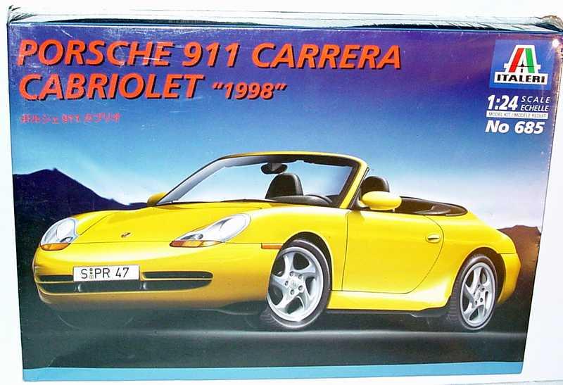 Foto 1:24 Bausatz Porsche 911 Carrera (996) Cabrio Italeri 685