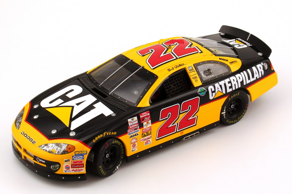 Foto 1:24 Dodge Intrepid NASCAR 2002 Davis Recing Caterpillar Nr.22 Ward Burton - Racing Champions 18040P