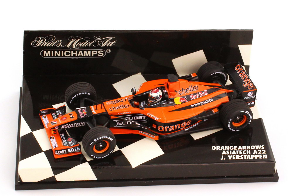 Foto 1:43 Arrows A22 Formel 1 2001 Orange Asiatech Nr.14 Jos Verstappen - Minichamps 400050011