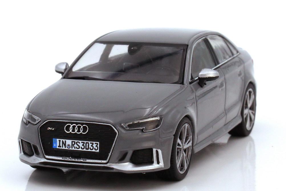 Foto 1:43 Audi RS3 Limousine Typ 8V nardograu - Werbemodell - iScale 5011613131