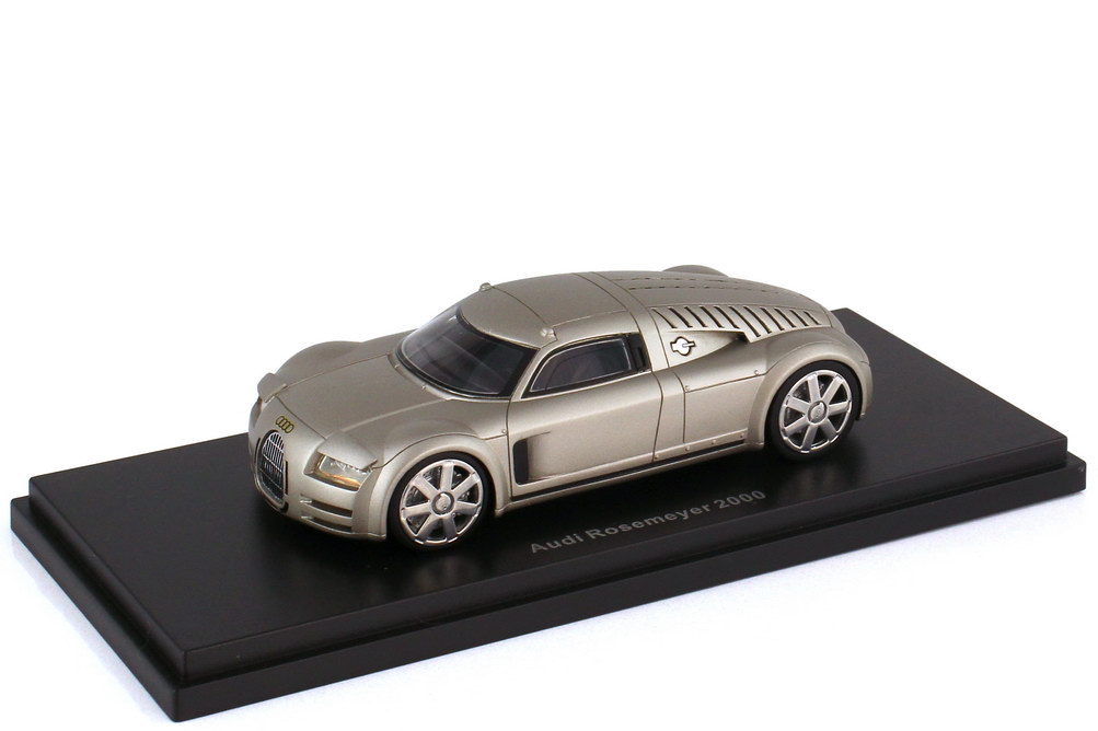 Foto 1:43 Audi Rosemeyer Konzeptstudie 2000 aluminiumsilber - BoS 43460