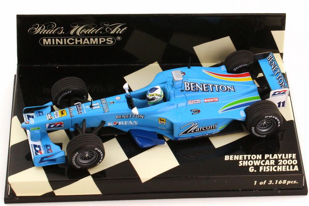 Foto 1:43 Benetton Playlife Showcar Formel 1 2000 Nr.11 Giancarlo Fisichella - Minichamps 430000081