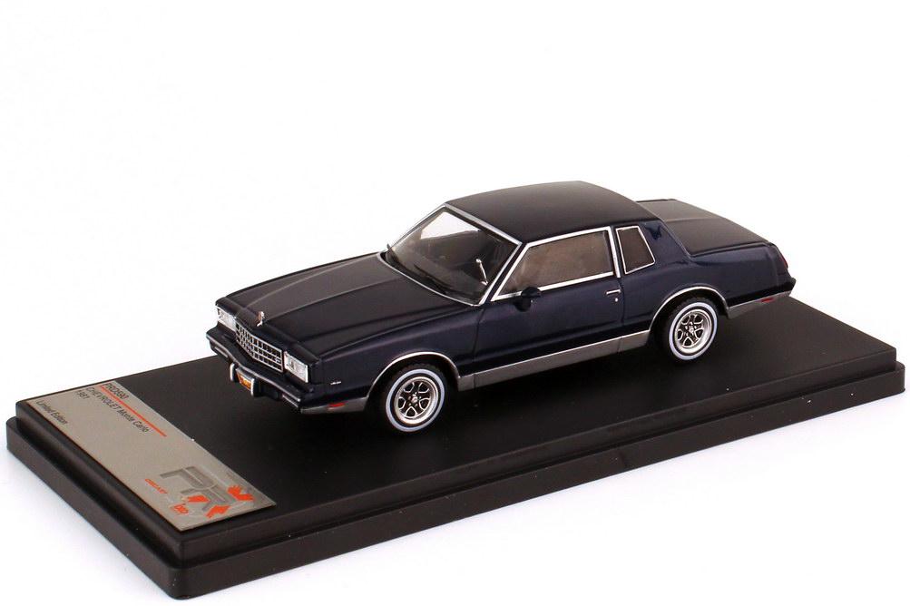 Foto 1:43 Chevrolet Monte Carlo 1981 dunkelblau-met. - Premium X PRD590