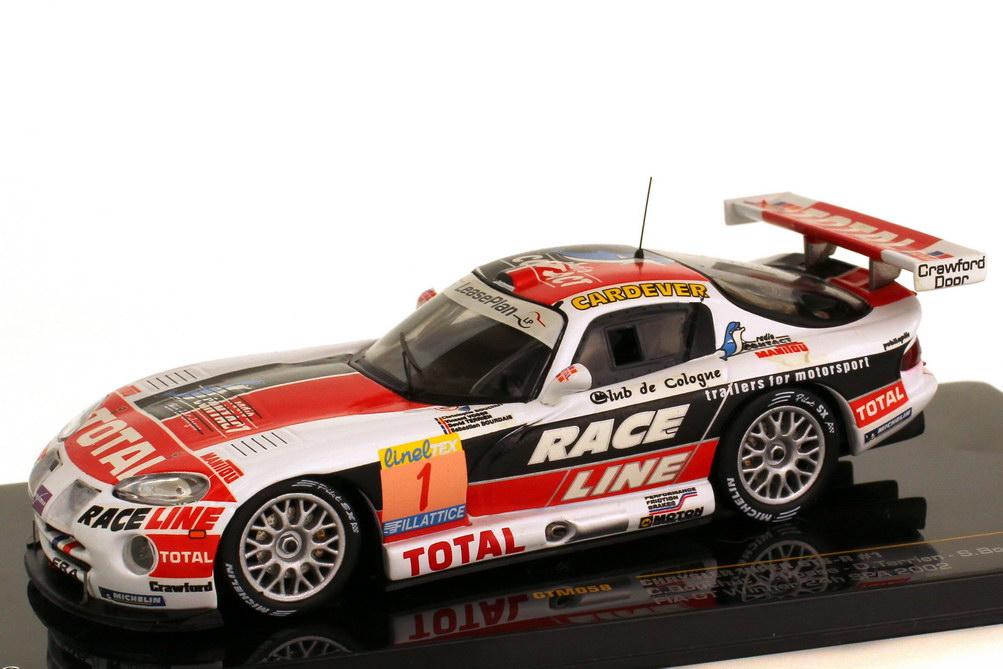 Foto 1:43 Chrysler Viper GTS-R 24h Spa 2002 Larbre Competition Total Race Line Nr.1 Bouchut Bourdais Vosse Terrien Sieger Ixo GTM058