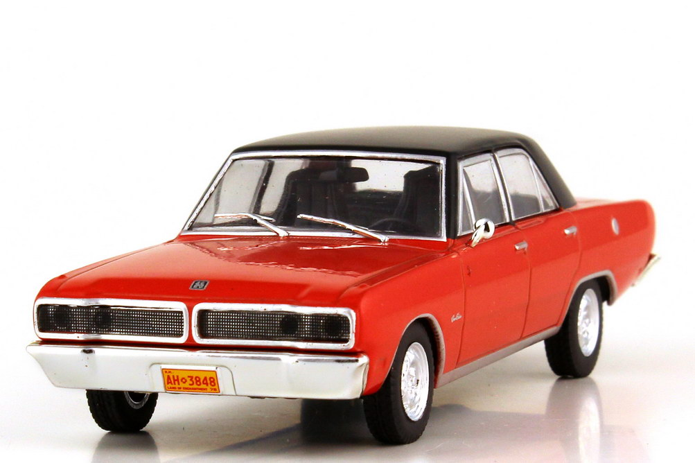 Foto 1:43 Dodge Brazilian Charger R T 4-door 1975 rot Dach schwarz - WhiteBox WB148