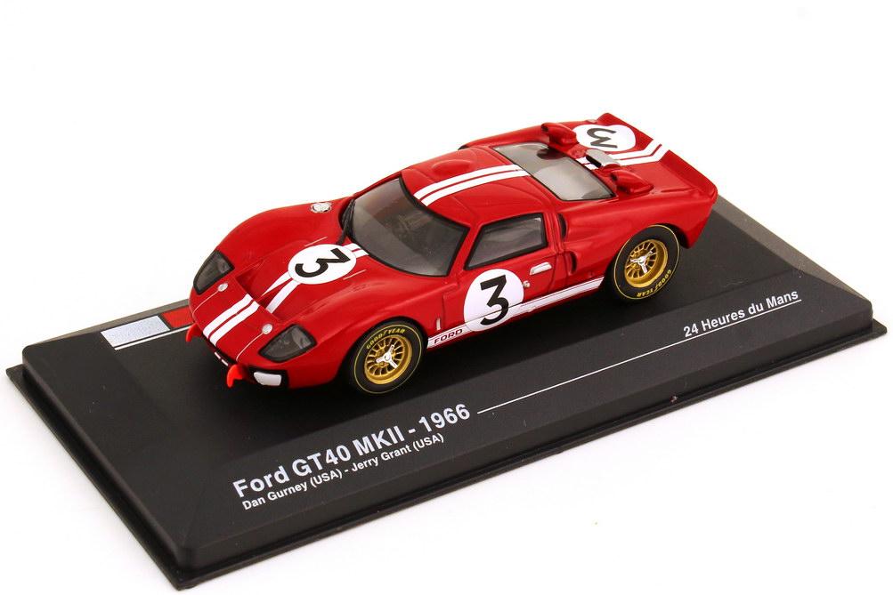 Foto 1:43 Ford GT40 MK II 24h von Le Mans 1966 Nr.3 Dan Gurney Jerry Grant Ixo