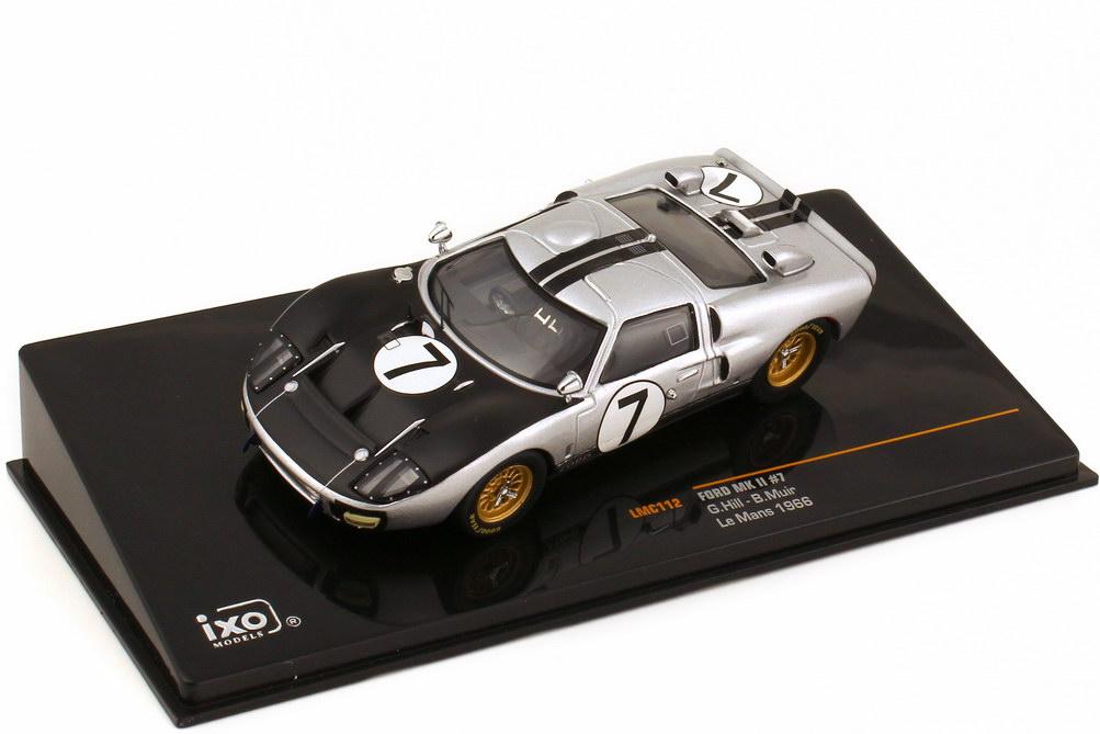 Foto 1:43 Ford GT40 MK II 24h von Le Mans 1966 Nr.7 G. Hill B. Muir Ixo LMC112