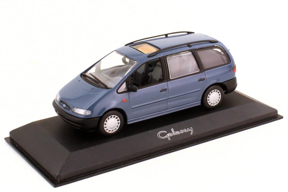 Foto 1:43 Ford Galaxy WGR graublau-met. - Werbemodell - Minichamps 430084161