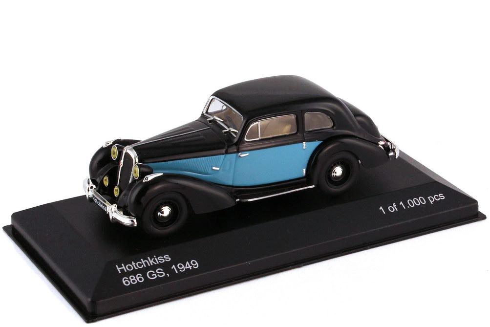 Foto 1:43 Hotchkiss 686 GS 1949 RHD schwarz hellblau - WhiteBox WB164