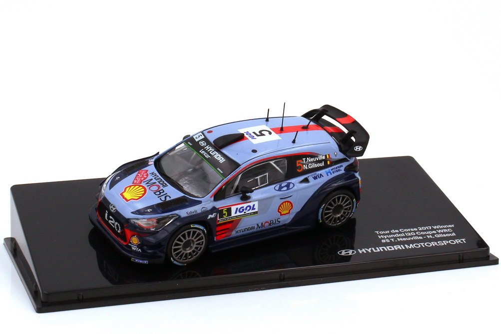Foto 1:43 Hyundai i20 Coupe WRC Tour de Corse 2017 Nr.5 Thierry Neuville Nicolas Gilsoul - Werbemodell - Ixo