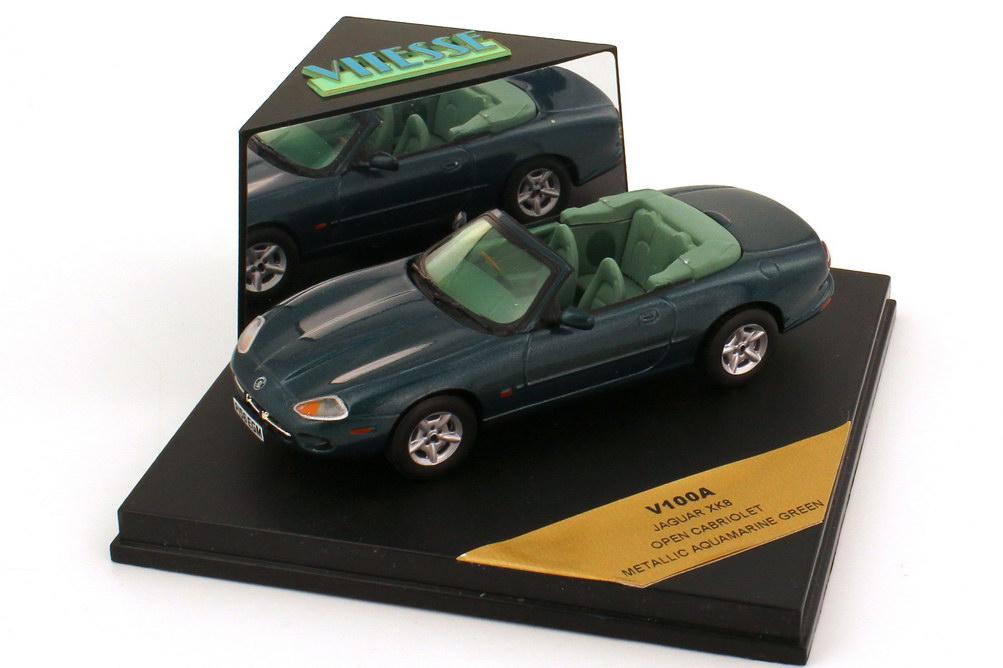 Foto 1:43 Jaguar XK8 X100 Cabriolet RHD aquamarine-green-met. Vitesse V100A