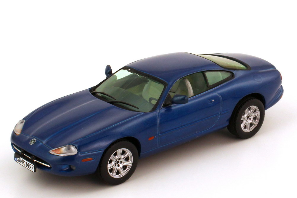 Foto 1:43 Jaguar XK8 X100 Coupé antigua-blue-met. Vitesse V101C