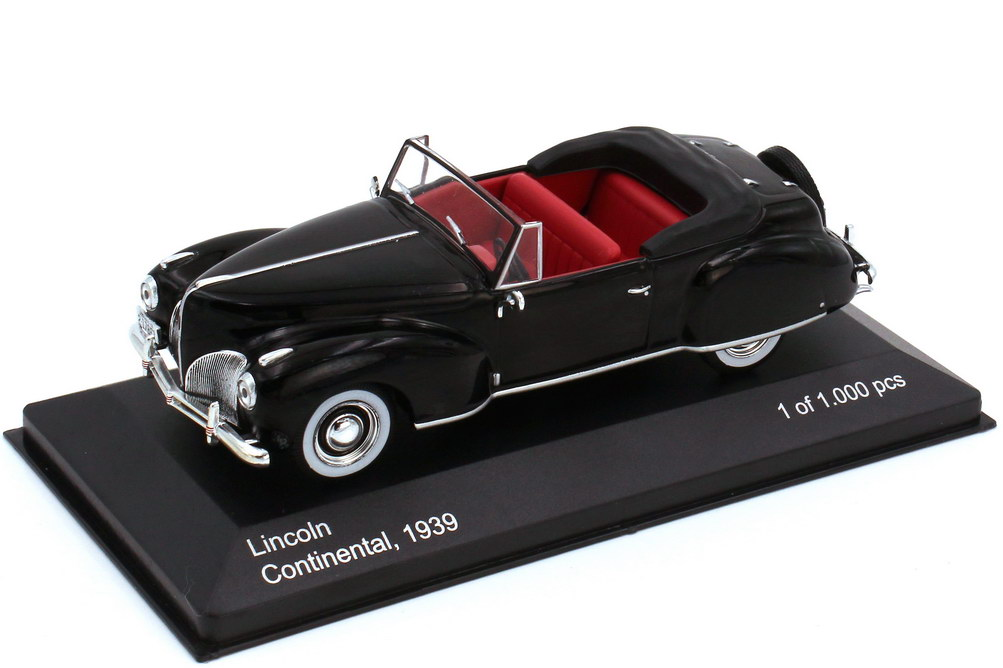 Foto 1:43 Lincoln Continental Cabrio 1939 schwarz - WhiteBox WB117