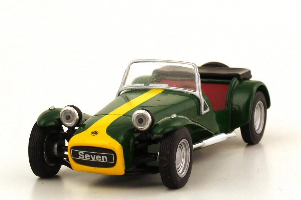 Foto 1:43 Lotus Super Seven Serie II 1967 grün gelb - Solido S4400500