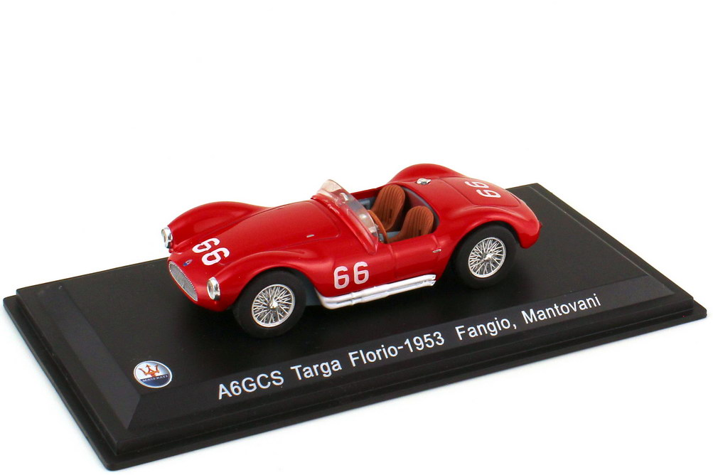 Foto 1:43 Maserati A6GCS - Targa Florio 1953 Nr.66 - S. Mantovani - J. M. Fangio - WhiteBox WBS042