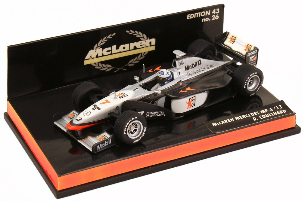Foto 1:43 McLaren Mercedes MP4 13 Formel 1 1998 Nr.7 David Coulthard - Minichamps 530984307