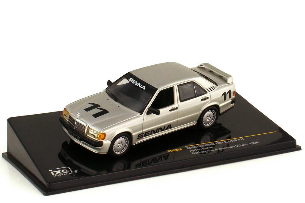 Foto 1:43 Mercedes-Benz 190E 2.3-16 W201 Nürburgring 1984 Nr.11 Ayrton Senna Siegerfahrzeug - Ixo GTM068