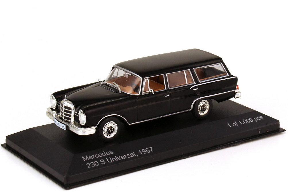 Foto 1:43 Mercedes-Benz 230S Universal W111 1967 schwarz - WhiteBox WB207