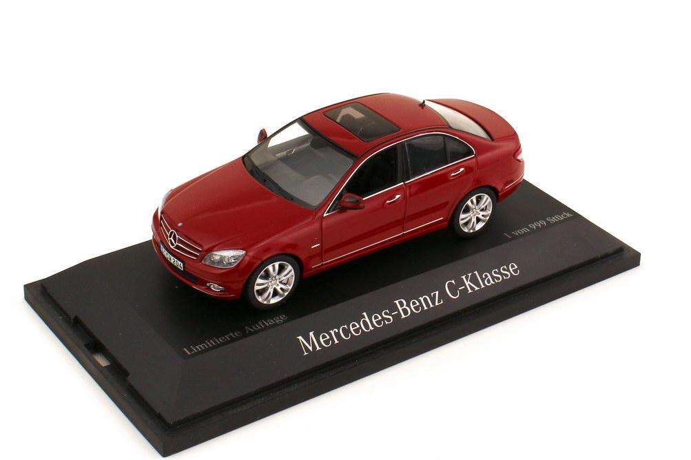 Foto 1:43 Mercedes-Benz C-Klasse Avantgarde W204 feueropalrot Roadshow 2007 - Werbemodell - Schuco