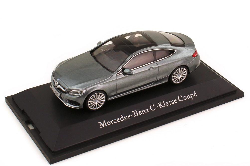 Foto 1:43 Mercedes-Benz C-Klasse Coupé C205 selenitgrau-met. - Werbemodell - Kyosho B66960530