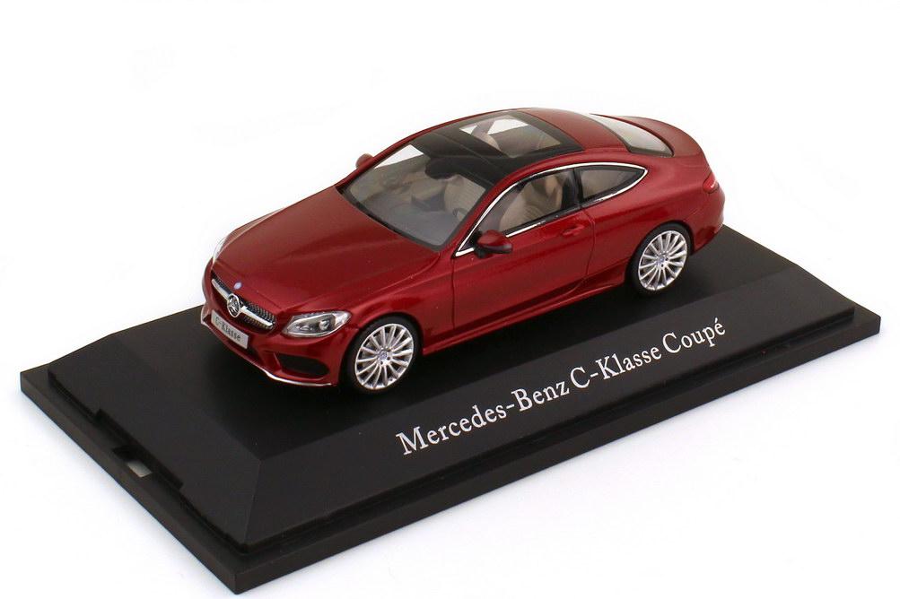 Foto 1:43 Mercedes-Benz C-Klasse Coupé C205 Designo hyazinthrot-met. - Werbemodell - Kyosho B66960531