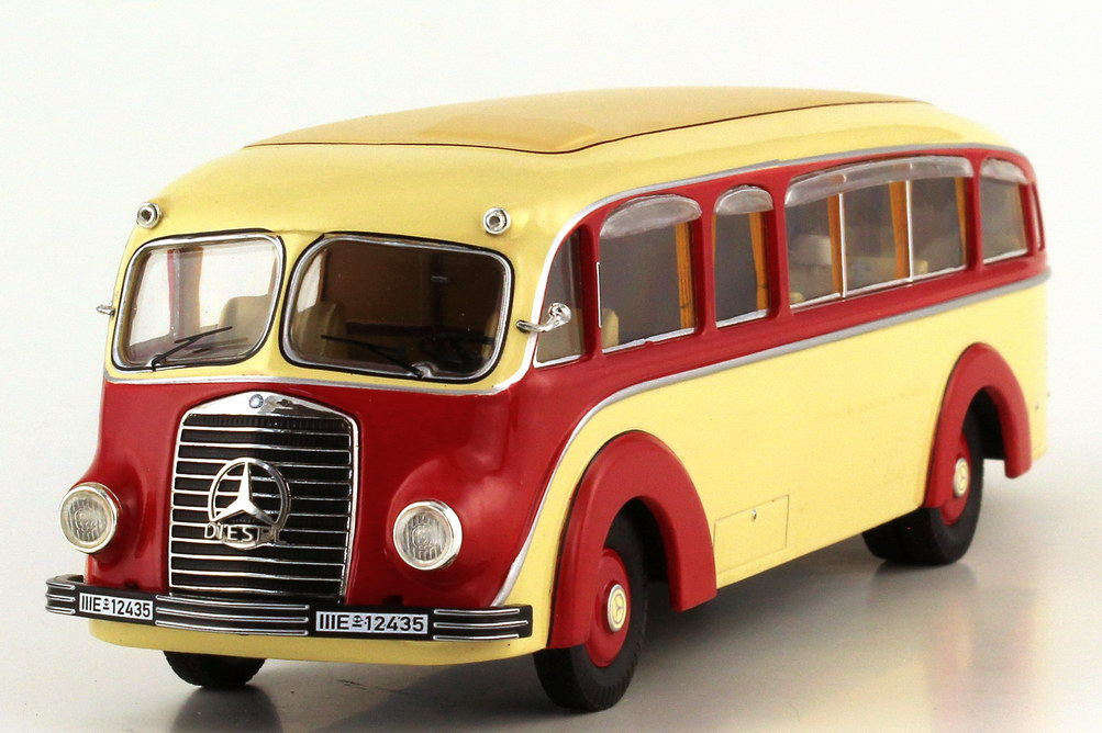 Foto 1:43 Mercedes-Benz LO 3500 Stromlinienbus elfenbein rot - Premium ClassiXXs 12325