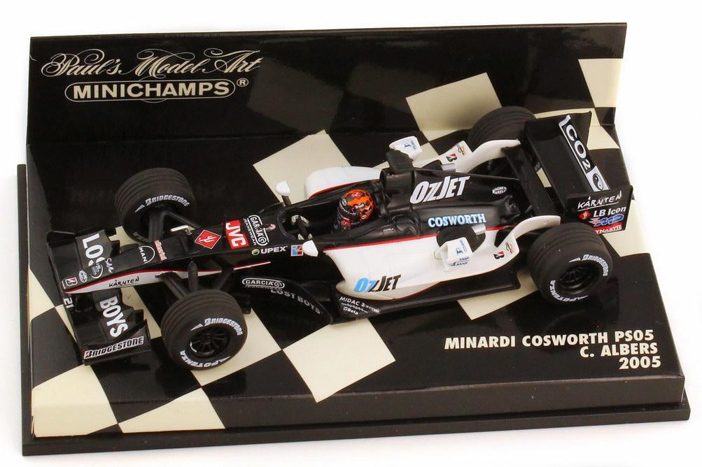 Foto 1:43 Minardi Cosworth PS05 Formel 1 2005 OzJet Nr.21 Christijan Albers - Minichamps 400050021