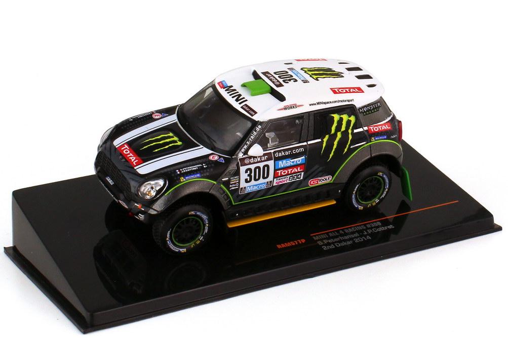 Foto 1:43 Mini ALL4 Racing Rallye Dakar 2014 Nr.300 Stéphane Peterhansel Jean-Paul Cottret - Ixo RAM577P