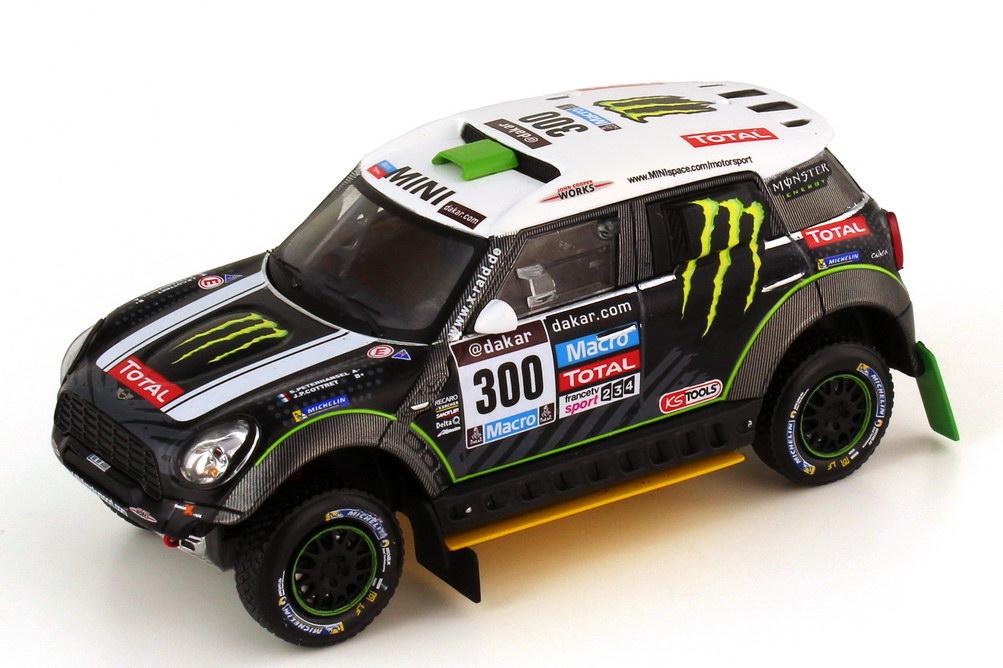 Peterhansel//Cottret Rallye Dakar 2013 IXO 1:43 Mini All4 Racing