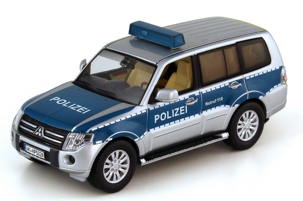 Foto 1:43 Mitsubishi Pajero V80 2012 Polizei Hessen silber blau - Premium X PRD504