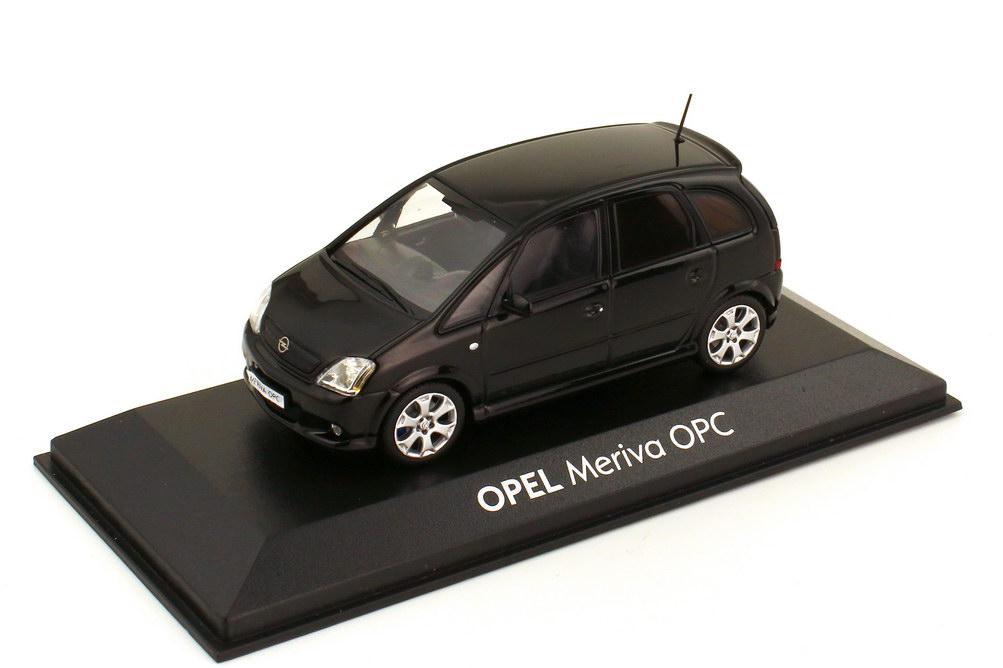 Foto 1:43 Opel Meriva A OPC saphirschwarz Werbemodell Minichamps 903998911799624