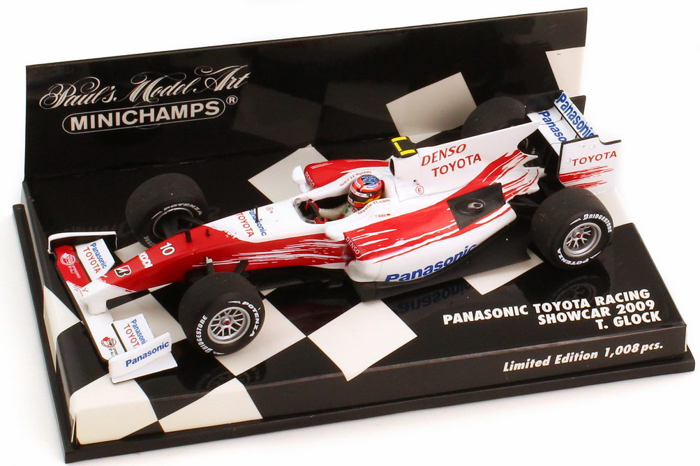 Foto 1:43 Panasonic Toyota Racing TF109 Showcar Formel 1 2009 Nr.10 Timo Glock - Minichamps 400090080
