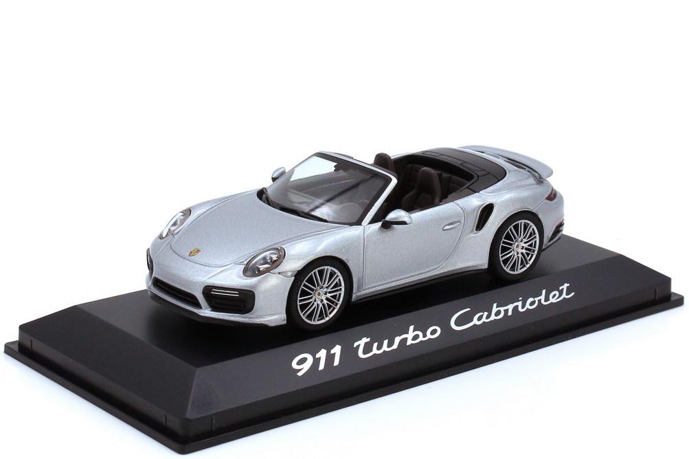 Foto 1:43 Porsche 911 turbo Cabriolet Typ 991.2 platinsilber-met. - Werbemodell - herpa WAP0201300G