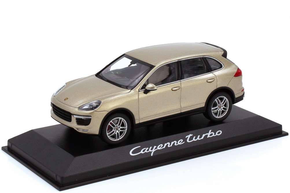 Foto 1:43 Porsche Cayenne turbo Typ 958.2 pearlsilver-met. - Werbemodell - Minichamps WAP0200050E