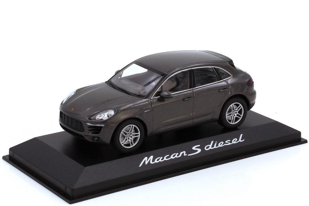 Foto 1:43 Porsche Macan S diesel Typ 95B achatgrau-met. - Werbemodell - Minichamps WAP0201510E