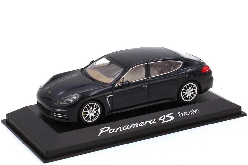Foto 1:43 Porsche Panamera 4S Executive Typ 970.2 dunkelblau - Werbemodell - Minichamps WAP0204500E