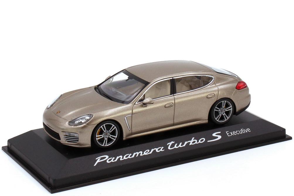 Foto 1:43 Porsche Panamera turbo S Executive Typ 970.2 luxorbeige-met. - Werbemodell - Minichamps WAP0200600E