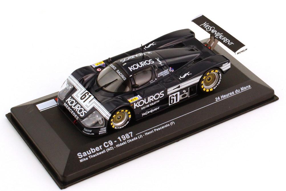 Foto 1:43 Sauber-Mercedes C9 24h von Le Mans 1987 Kouros Nr.61 Pescarolo Thackwell Okada - Ixo Altaya-Serie