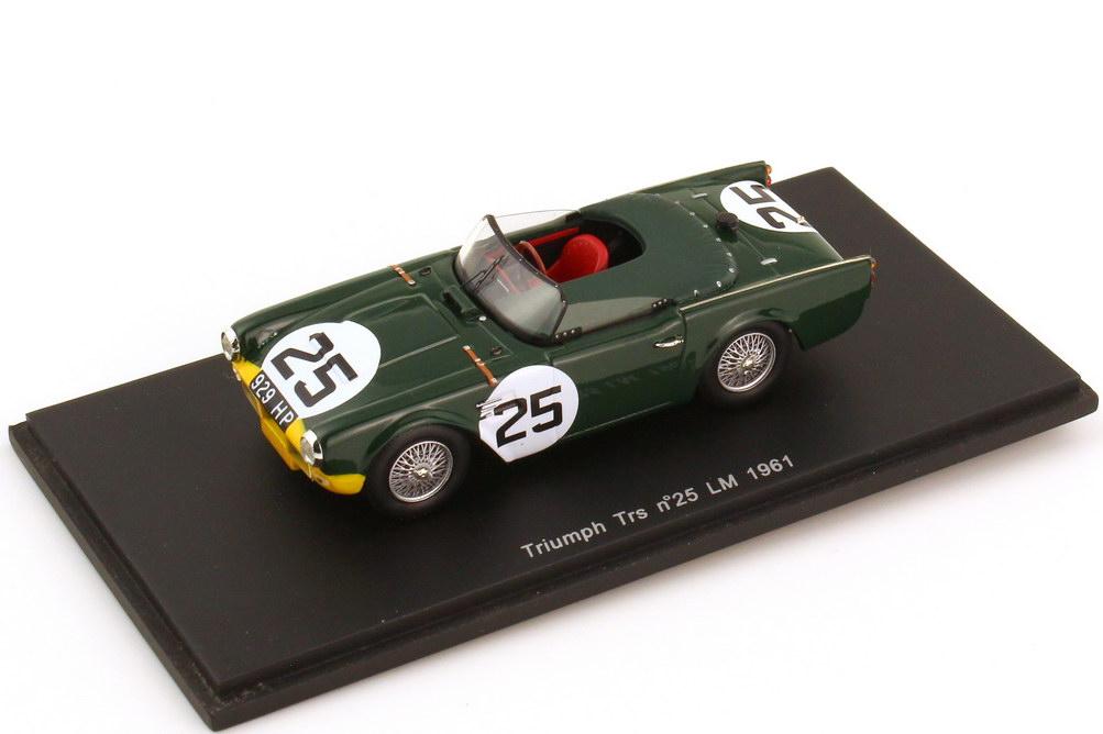Foto 1:43 Triumph TRS 24h von Le Mans 1961 Nr.25 Marcel Becquart Mike Rotschild - Spark S0504