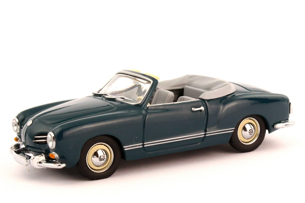 1 43 vw karmann ghia type 14 cabriolet sea blue grey verp dealer minichamps ebay. Black Bedroom Furniture Sets. Home Design Ideas