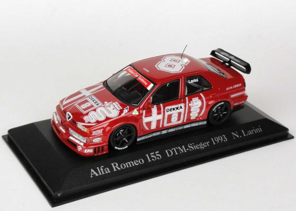 Foto 1:43 Alfa Romeo 155 V6 TI DTM 1993 Alfa Corse Nr.8, Larini DTM-Sieger 1993 Minichamps