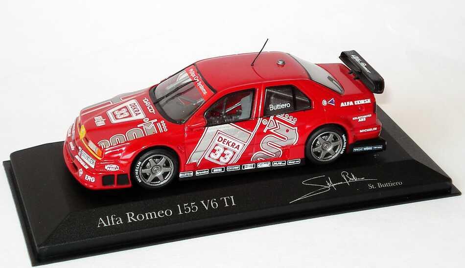 Foto 1:43 Alfa Romeo 155 V6 TI DTM 1994 Alfa Corse Nr.33, Buttiero Minichamps