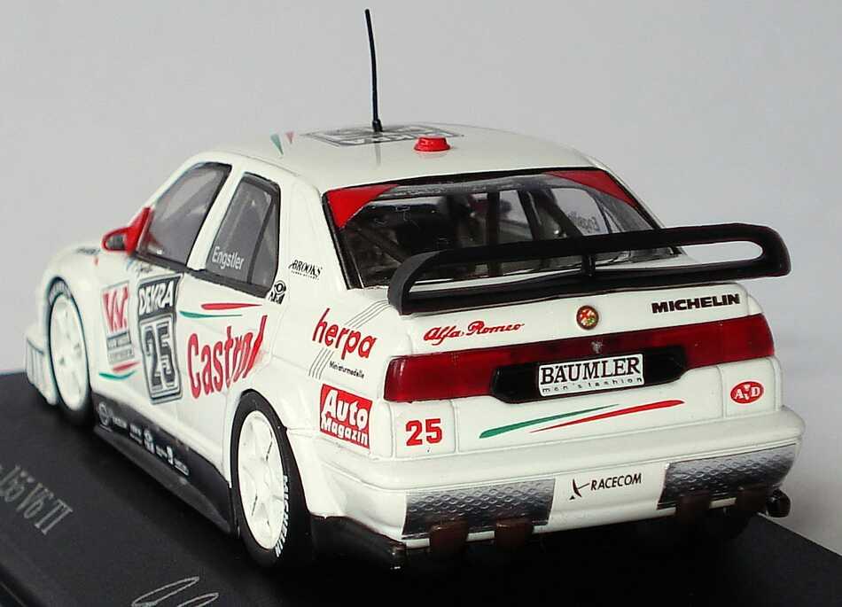 Foto 1:43 Alfa Romeo 155 V6 TI DTM 1994 Engstler, Herpa, Kein Alkohol am Steuer Nr.25, Engstler Minichamps 430940125