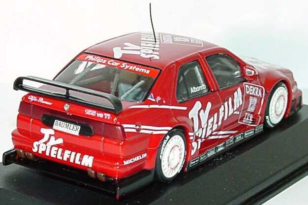 Foto 1:43 Alfa Romeo 155 V6 TI DTM 1995 Schübel, TV Spielfilm Nr.12, Alboreto (Presentation) Minichamps 430950212
