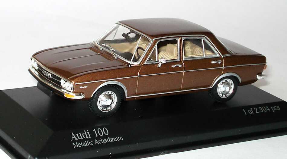 Foto 1:43 Audi 100 (C1) achatbraun-met. Minichamps 430019101