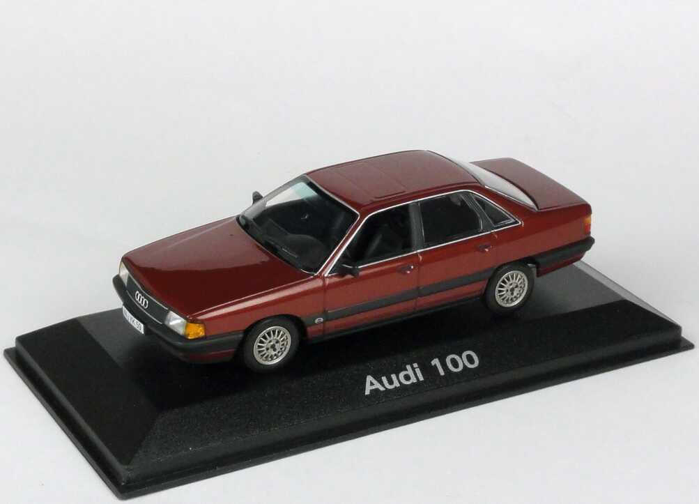 Foto 1:43 Audi 100 (C3) sienarot-met. Werbemodell Minichamps 5030700103