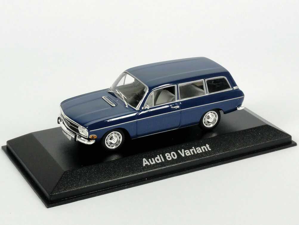 Foto 1:43 Audi 80 Variant dunkelblau Werbemodell Minichamps 5030200503