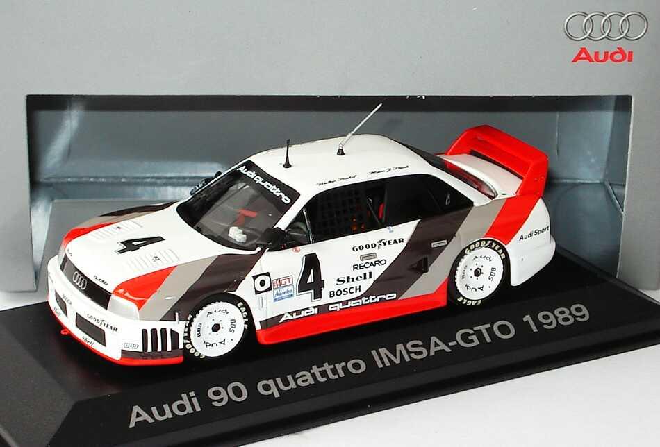 Foto 1:43 Audi 90 quattro IMSA GTO 1989 Nr.4, Stuck / Röhrl / Goodyear / Haywood Werbemodell Minichamps 50306002030