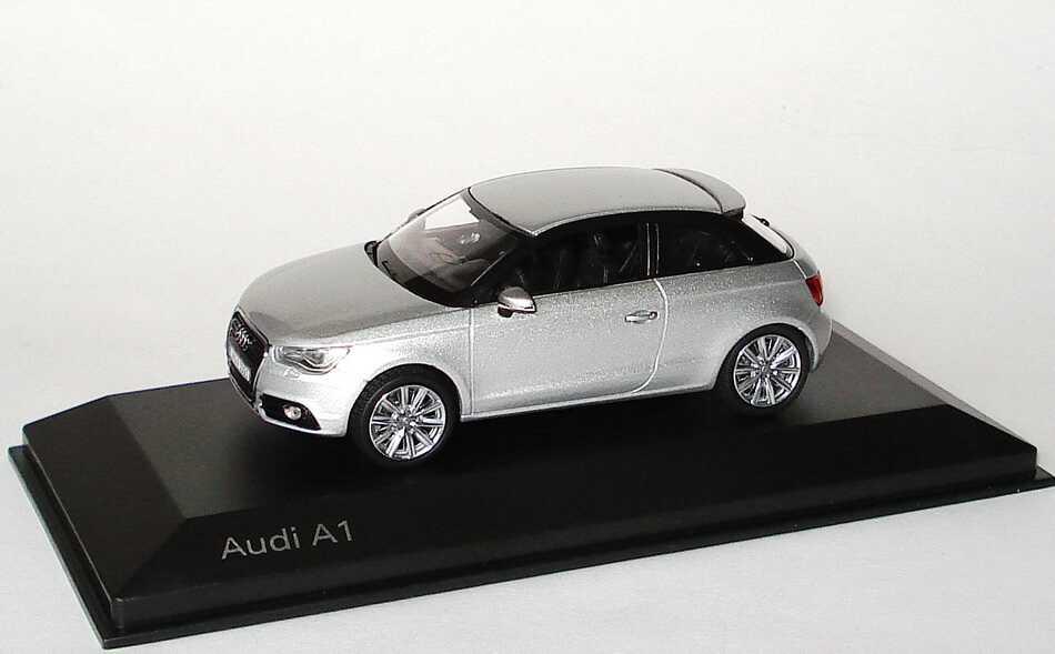 Foto 1:43 Audi A1 eissilber-met. Werbemodell Kyosho 5011001013