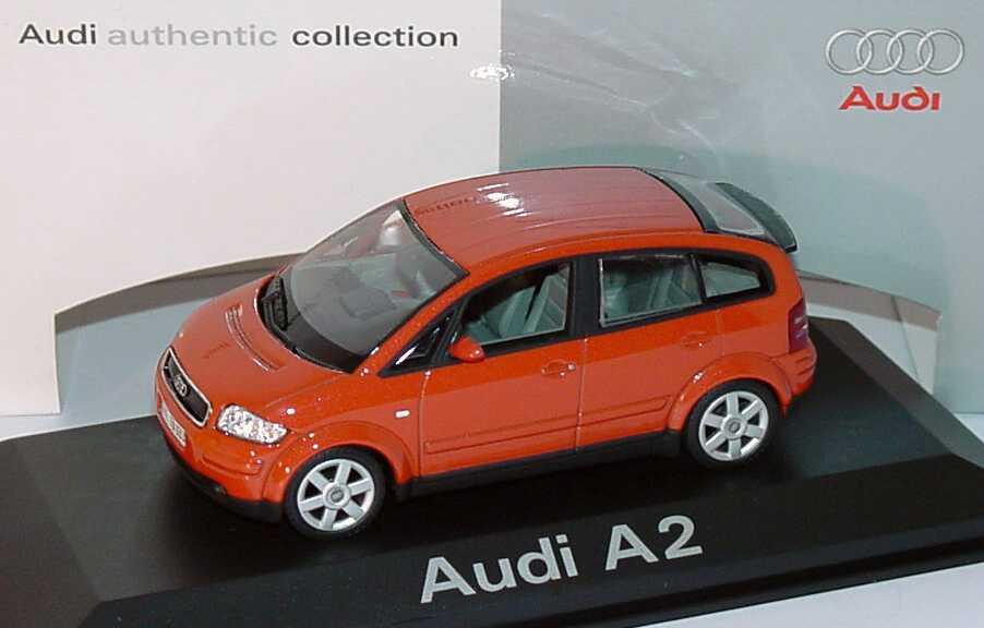 Foto 1:43 Audi A2 jaipurrot-met. Werbemodell Minichamps 5010002023